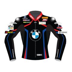 Tom Sykes BMW Motorrad Black Leather Jacket WSBK 2019 front view